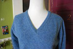 Pendleton light blue V neck sweater SIZE by CerealVintageThrift, $31.00