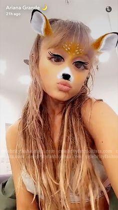 Ariana Grande wearing a  Calvin Klein Modern Cotton Padded Bralette. #style #celebstyle #bras #calvinklein #snapchat