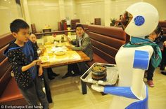 Yes, China has robots waiting on tables.