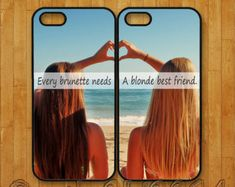 iphone 6 plus case,iphone 6 case,iphone 5 / 5C / 5S case,iphone 4/ 4S,ipod 4 / 5 case,every brunette need a blonde best friends