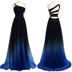 Blue black fade dress from NastyDress