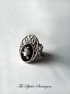 Gothic victorian intricate ring 'The witch' by SpiderStratagem, €12.00