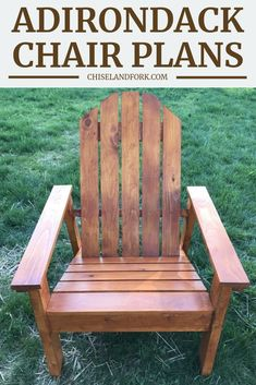 Inspired from Ana White plans, this Adirondack chair only uses a miter saw and jig saw to put together and are perfect for your backyard. wood projects projects diy projects for beginners projects ideas projects plans Anarondak Chairs, Porch Chairs, Wood Chairs, Patio Chair Cushions, White Chairs, Lounge Chairs, Ana White, Black White, Outdoor Furniture Plans