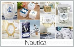 Check out our Nautical Wedding Theme and shop for nautical wedding favors, nautical wedding supplies, and nautical wedding decor. A Nautical Wedding is a trendy wedding style and a unique wedding theme that you're guests will enjoy. Browse through all of our wedding favors and wedding supplies at EventDazzle.com!