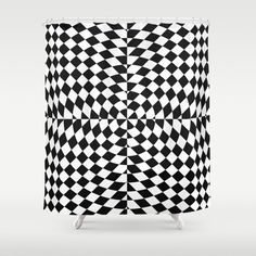 """Stop neglecting bathroom decor - our designer Shower Curtains bring a fresh new feel to an overlooked space. Hookless and extra long, these bathroom curtains feature crisp and colorful prints on the front, with a white reverse side.     - One size: 71"""" (W) x 74"""" (H)   - Made in the USA with 100% polyester   - 12 buttonhole-top for easy hanging    - Machine washable, tumble dry   - Rod, curtain liner and hooks not included Scandinavian Shower Curtains, Scandinavian Bathroom, Scandinavian Home, Bathroom Curtains, Window Curtains, Shades Of White, Black And White, Uo Home, Nordic Home"""