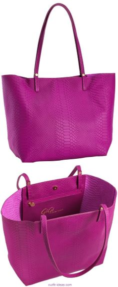 Embossed Python Leather BAGS Radiant Orchid #coloroftheyear #gigi