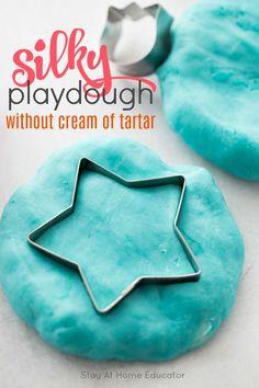Super soft play dough recipe without cream of tartar