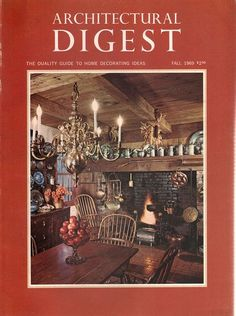Architectural Digest Fall 1969