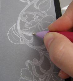 my cards: MC Part 1 - Postcard Pergamano technique (Parchment). Tutorial part 1 - Card in Pergamano (Parchment Craft) techniques