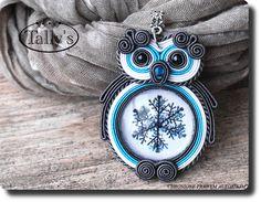 Большой OWL кулон коса - ювелирные изделия, автор Tally - серебро булавки