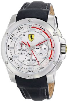 Ferrari Men's 830090 Analog Display Japanese Quartz Black Watch