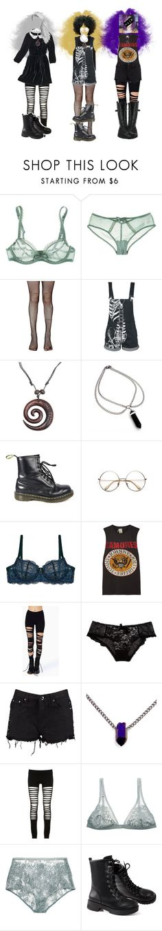 """""""It's fuccin close"""" by kaninekiller ❤ liked on Polyvore featuring Huit, Leg Avenue, NOVICA, Dr. Martens, Retrò, Clo Intimo, MadeWorn, Boohoo, Volatile and Maurie & Eve"""