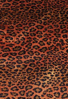 Leopard Pattern Chenille Upholstery Weight Fabric