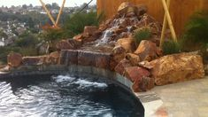 Check out these waterfalls and features. Bring your pool to life with a gorgeous rock waterfall. Let Superior Pools help you with a custom design! im garten videos Water features Rock Waterfall, Garden Waterfall, Waterfall Fountain, Waterfall Design, Backyard Pool Designs, Ponds Backyard, Backyard Waterfalls, Garden Ponds, Small Water Features