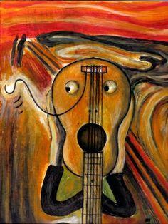 el grito de Munch parodia