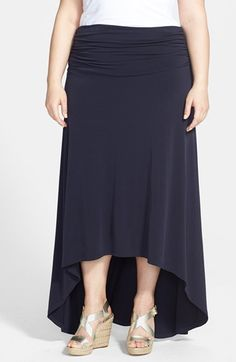 MICHAEL Michael Kors High/Low Maxi Skirt (Plus Size) available at #Nordstrom