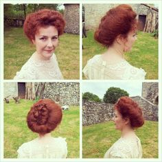 Victorian hairstyle for a.movie.