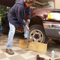 Whack Stuck Wheels: How to Loosen Nuts, Bolts, and Screws http://www.familyhandyman.com/automotive/how-to-loosen-stuck-bolts