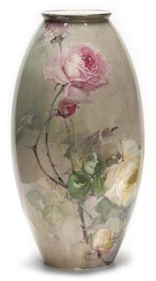 Fragile Beauty - Painted porcelain plates and vases by Franz Bischoff