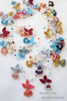 oya crochet lariat necklace