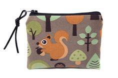 petit porte-monnaie en tissu enfant écureuil