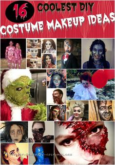 Coolest Homemade Costume Ideas – Find Inspiration for Your Next DIY Halloween Costume Cool Halloween Costumes, Halloween Diy, Halloween Makeup, Happy Halloween, Homemade Costumes, Diy Costumes, Costume Ideas, Diy Makeup, Makeup Ideas