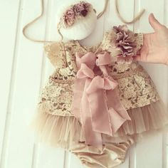 8ffb365475 Blouse and diaper cover , vintage style, made from beige cotton lace and  pink powder
