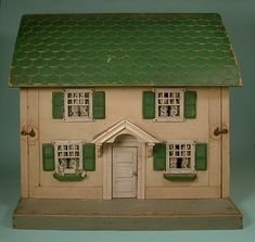 Small Schoenhut Dollhouse, Furnished #186-25 SOLD  RickMaccione-Dollhouse Builder www.dollhousemansions.com