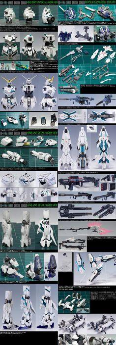 GUNDAM: GUNDAM UC: UNICORN GUNDAM Parts assembled photos.  #GUNDAM #GUNDAM_UC #ModelArt