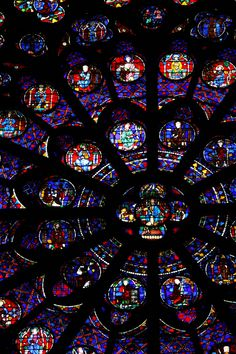 Stained glass - Notre-Dame - Paris - France