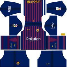 4224c5f15f3 F.C. Barcelona Nike Kits 2018 -19 For Dream League Soccer 2019 Soccer Kits,  Barcelona