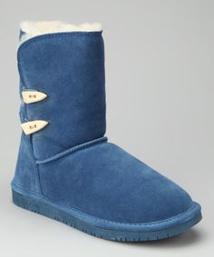Take a look at this Winter Blue Suede Abigail Boot - Women by BEARPAW on #zulily today!