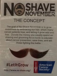 No Shave November for Relay Where To Donate Hair, Shaving Tips, Shaving Products, Donating Hair, No Shave November, Beard Rules, Shaving & Grooming, Relay For Life, Awareness Ribbons