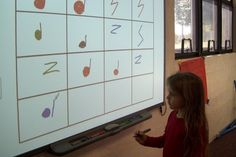 """Did this without Smart Board, of course. We used ti-ti and ta markers made from magnet strips on white board. Used chant """"Queen Queen Caroline"""". Next class, we dictated rhythm of chant line by line using fruit loops. They loved it!"""