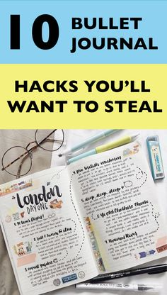 I loved this article! I learned a couple of great bullet journal hacks and tips that I haven't ever heard about before! | Bullet journal layout | bullet journal ideas | Bullet journal inspiration | #bujo #bulletjournal #journaling