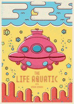 The Life Aquatic illustratedby Maurício Cardoso