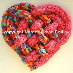 spool knitting heart