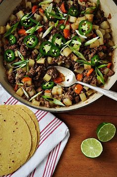 Picadillo (Seasoned Beef with Carrots and Potatoes) by ¡Hola Jalapeño!