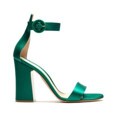 Gianvito Rossi Tandi block-heel satin sandals (€690) ❤ liked on Polyvore featuring shoes, sandals, strappy shoes, gianvito rossi sandals, gianvito rossi shoes, gianvito rossi and strap shoes