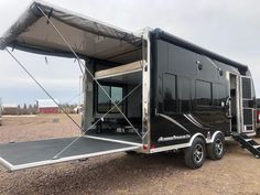 Enclosed Motorcycle Trailer, Enclosed Trailer Camper, Cargo Trailer Camper Conversion, Cargo Trailers, Horse Trailers, Travel Trailers, Vacation Mood, Vacation Style, Camping Life