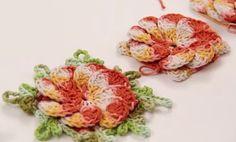 """""""Crochê da Mimi"""": Passo a Passo centro mesa crochê com flor crista de galo do Marcelo Nunes"""