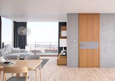 Interiérové dveře Sapeli - TENGA_28 dýha teak bílý a dub stříbrný Room Divider, Decor, Furniture, Table, Home, Conference Room Table, Doors, Home Decor, Room