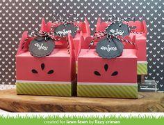 Lawn Fawn Video {10.3.16} Lizzy's Watermelon Treat Box + a Happy Howloween Card Set by Kristin