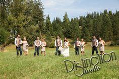 Wedding Photography by Distinction Studio #DistinctionStudio Wedding Photo ideas, country wedding photography, photographer, Spokane Washington, Bride and Groom