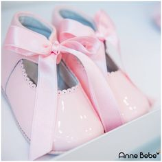 Genuine Shiny Leather Pink Shoes For Baby Girl 0 - 10 Months.Perfect Accesories For Spring, Sweet Pastel Pink With Cute Satin Bows - AnneBebe - Leon Shoes Baby Girl Shoes, Girls Shoes, Laura Biagiotti, Satin Bows, Pink Shoes, Pastel Pink, Spring, Sweet, Leather