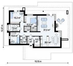 Проект дома Zx65 + - план-схема 1