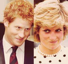 Prince Harry and Princess Diana. Like mother, like son! Princess Diana Family, Princes Diana, Prince And Princess, Princess Charlotte, Royal Prince, Prinz Charles, Prinz William, Prince William And Harry, Prince Harry And Megan
