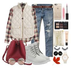 """""""InVEST in a vest."""" by bee-farrell on Polyvore featuring Hollister Co., Étoile Isabel Marant, J.Crew, Timberland, Linda Farrow, Casetify, NARS Cosmetics, MAKE UP STORE, MAC Cosmetics and Lipsy"""
