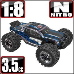 EARTHQUAKE 3.5 1/8 SCALE NITRO MONSTER TRUCK BLACK/BLUE