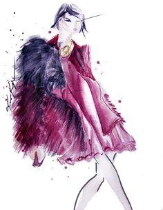 Madame de Pompadour (Fashion Illustrations by Kris Keys)